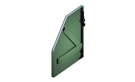 Volet battant isolé en aluminium vert pâle ral6021 structuré