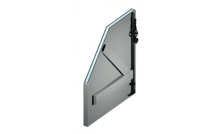 Volet battant isolé en aluminium gris aluminium ral9006 structuré