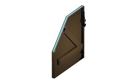 Volet battant isolé en aluminium brun sépia ral8014 structuré
