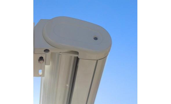 Store Cassis ral9010 blanc brillant - 3,50 x 2,00  T103-beige manœuvre manuelle  - 1