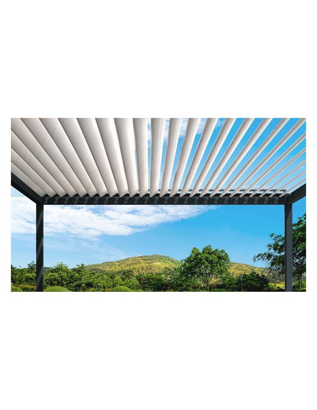 Eclairage Solaire Pour Tonnelle pergola bioclimatique titan autoportée en aluminium
