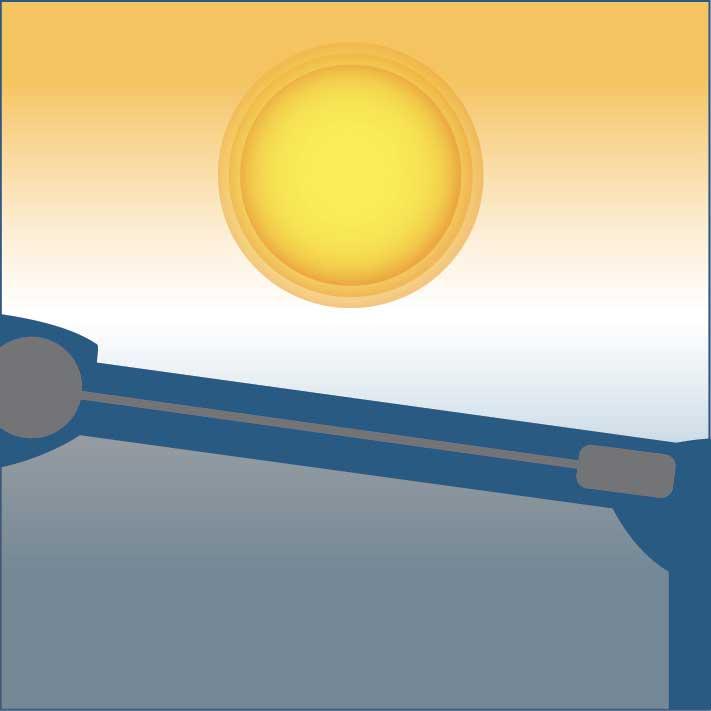 Protection solaire optimale de la pergola toile enroulable phoenix