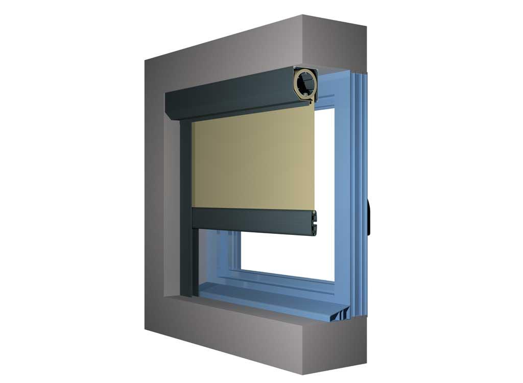 Type de pose rideau à coulisses chronos dans embrasure de fenêtre