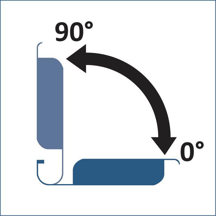 Variation de l'inclinaison de 0° à 90° des lames orientables de la pergola bioclimatique H2 HELIOS