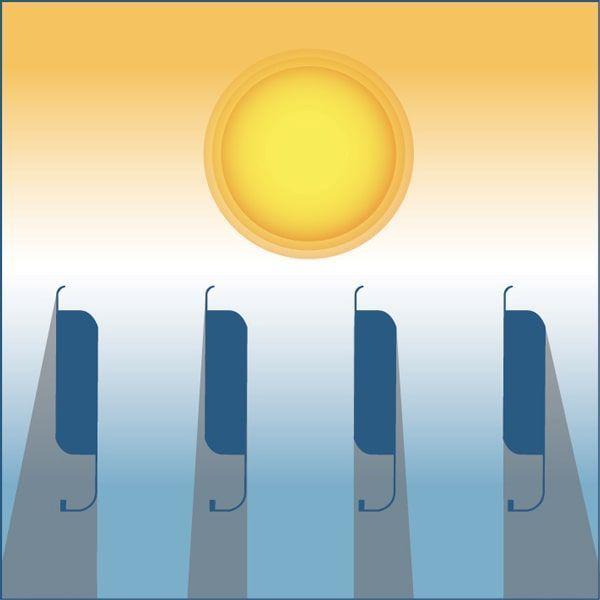 Régulation de l'ombre pour la pergola bioclimatique h3 titan à lames orientables